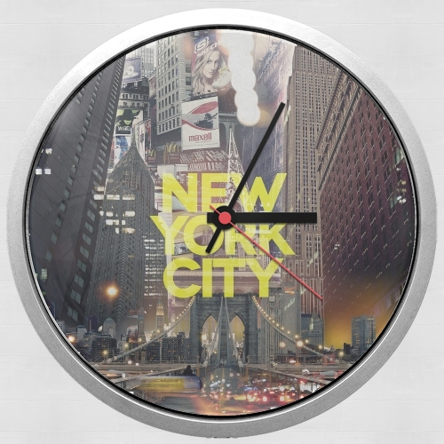 New York City II [yellow] for Wall clock