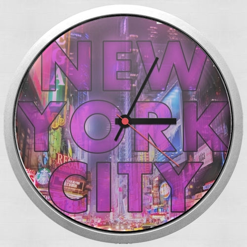 New York City - Broadway Color for Wall clock