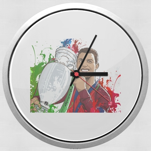 Portugal Campeoes da Europa for Wall clock