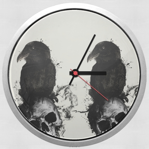 Raven and Skull for Wall clock