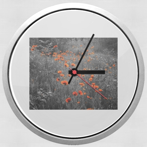 Red and Black Field for Wall clock