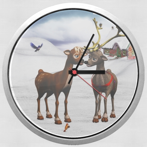 Reindeers Love for Wall clock