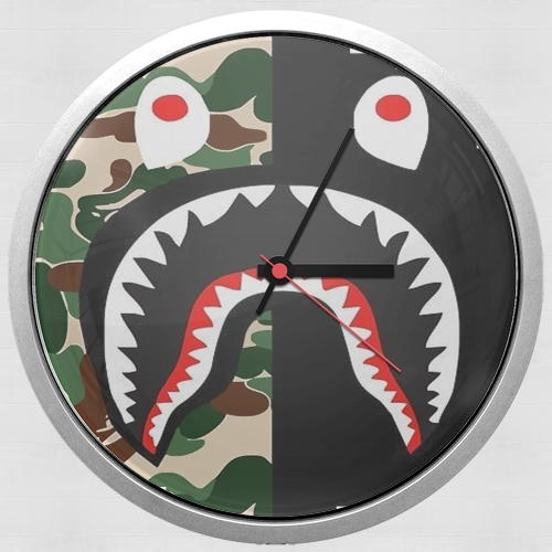 Shark Bape Camo Military Bicolor for Wall clock