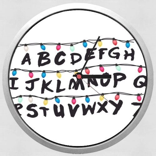 Stranger Things Lampion Alphabet Inspiration for Wall clock
