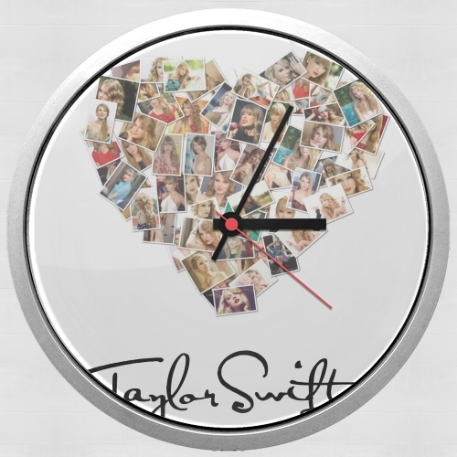 Taylor Swift Love Fan Collage signature for Wall clock