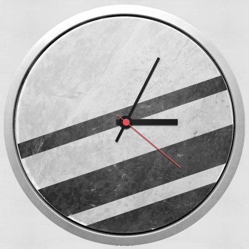 White Striped Marble for Wall clock