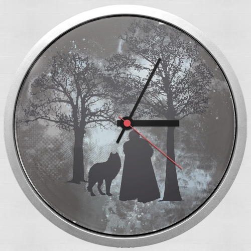 Wolf Snow for Wall clock