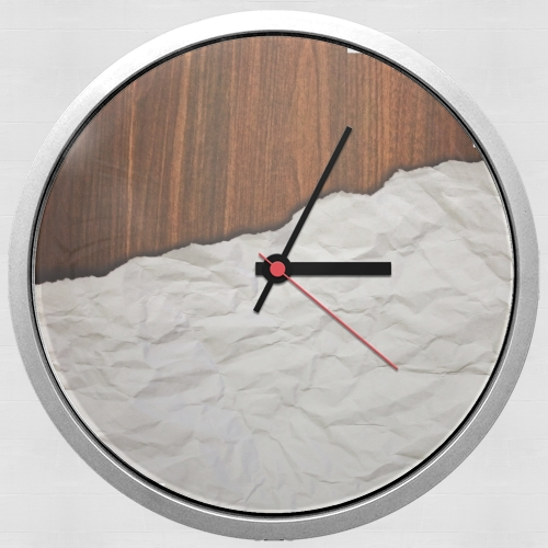 Wooden Crumbled Paper for Wall clock