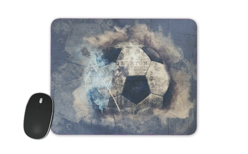 Abstract Blue Grunge Football for Mousepad