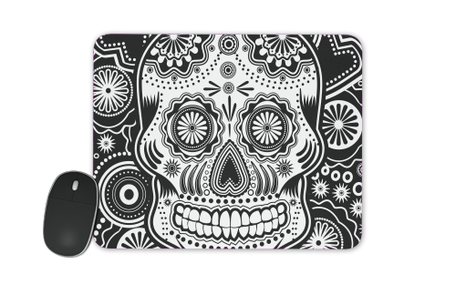 black and white sugar skull for Mousepad