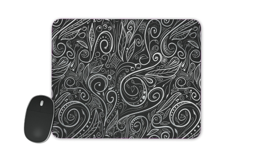 Black Silver Damasks for Mousepad