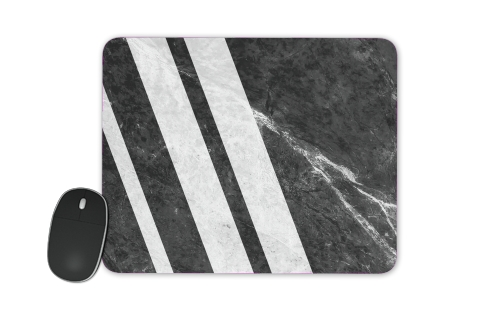 Black Striped Marble for Mousepad