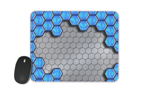 Blue Metallic Scale for Mousepad