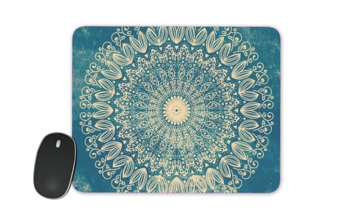 Blue Organic boho mandala for Mousepad