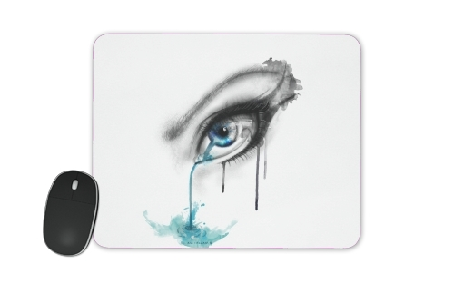 Blue tear river for Mousepad