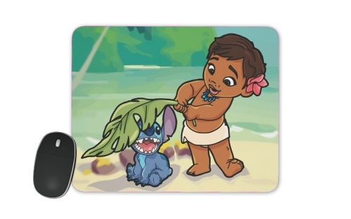 Disney Hangover Moana and Stich for Mousepad