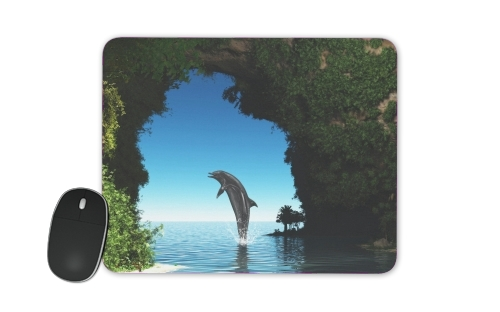 Dolphin in a hidden cave for Mousepad