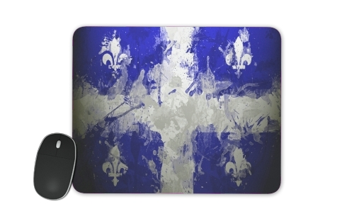 Drapeau Quebec Peinture for Mousepad