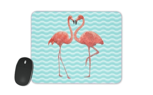flamingo love for Mousepad