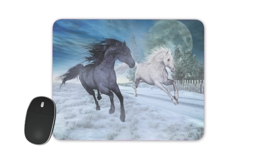 Horse freedom in the snow for Mousepad