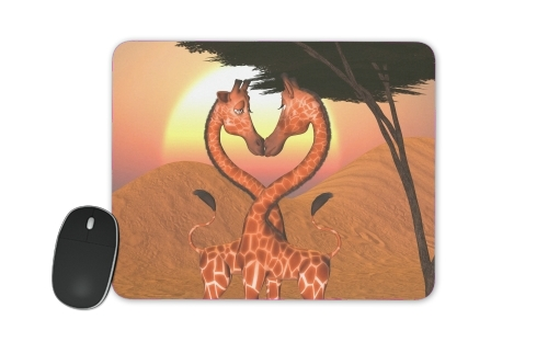 Giraffe Love for Mousepad