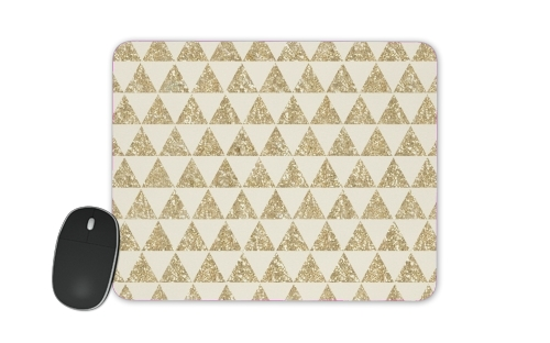 Glitter Triangles in Gold for Mousepad