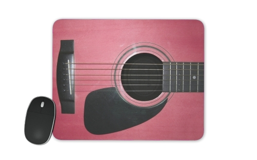 Pink Guitar for Mousepad