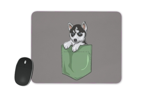 Husky Dog in the pocket for Mousepad