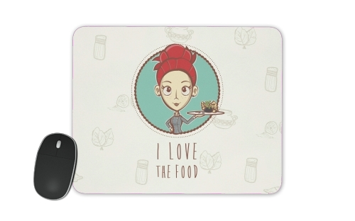 I love the food for Mousepad