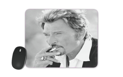 johnny hallyday Smoke Cigare Hommage for Mousepad