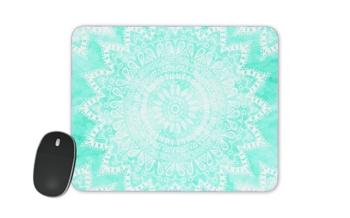Mint Bohemian Flower Mandala for Mousepad