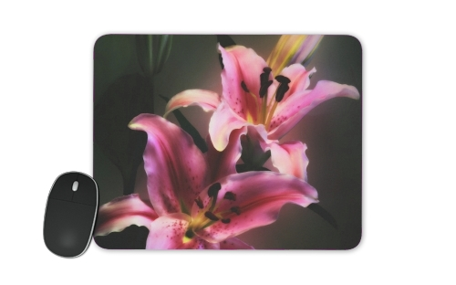 Painting Pink Stargazer Lily for Mousepad