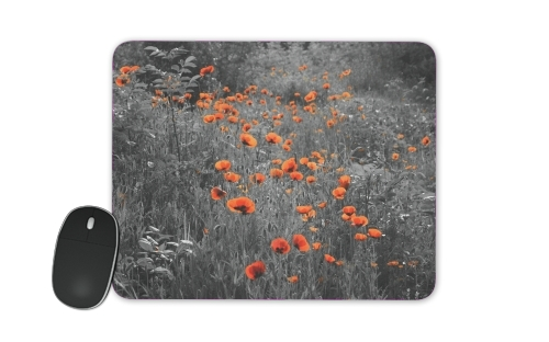 Red and Black Field for Mousepad