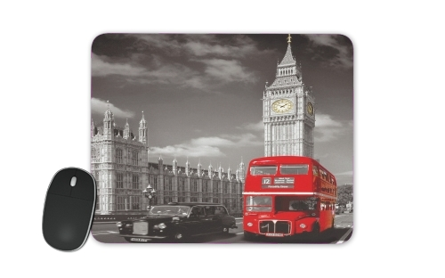 Red bus of London with Big Ben for Mousepad