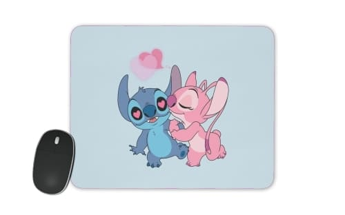 Stitch Angel Love Heart pink for Mousepad