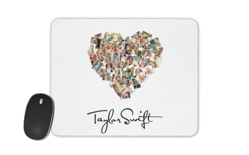 Taylor Swift Love Fan Collage signature for Mousepad