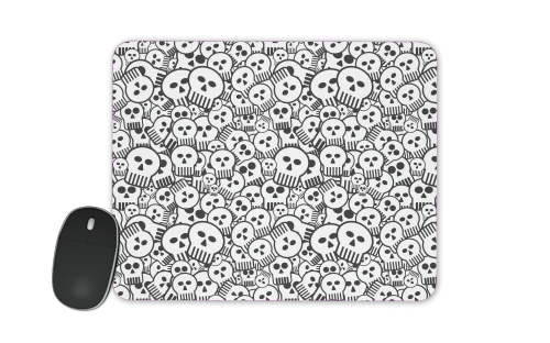 toon skulls, black and white for Mousepad