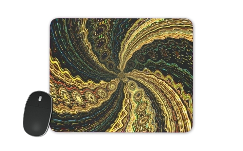 Twirl and Twist black and gold for Mousepad