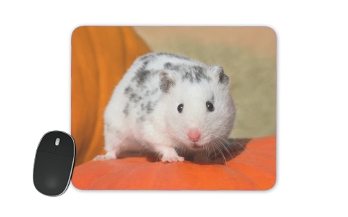 White Dalmatian Hamster with black spots  for Mousepad
