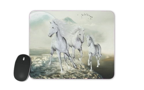 White Horses on the beach for Mousepad