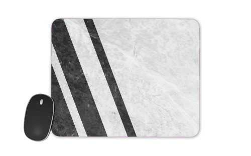 White Striped Marble for Mousepad