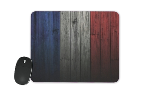 Wooden French Flag for Mousepad