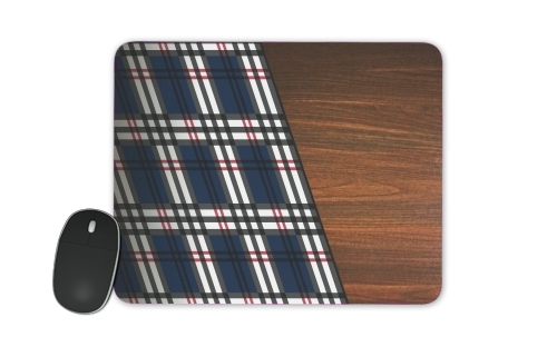 Wooden Scottish Tartan for Mousepad