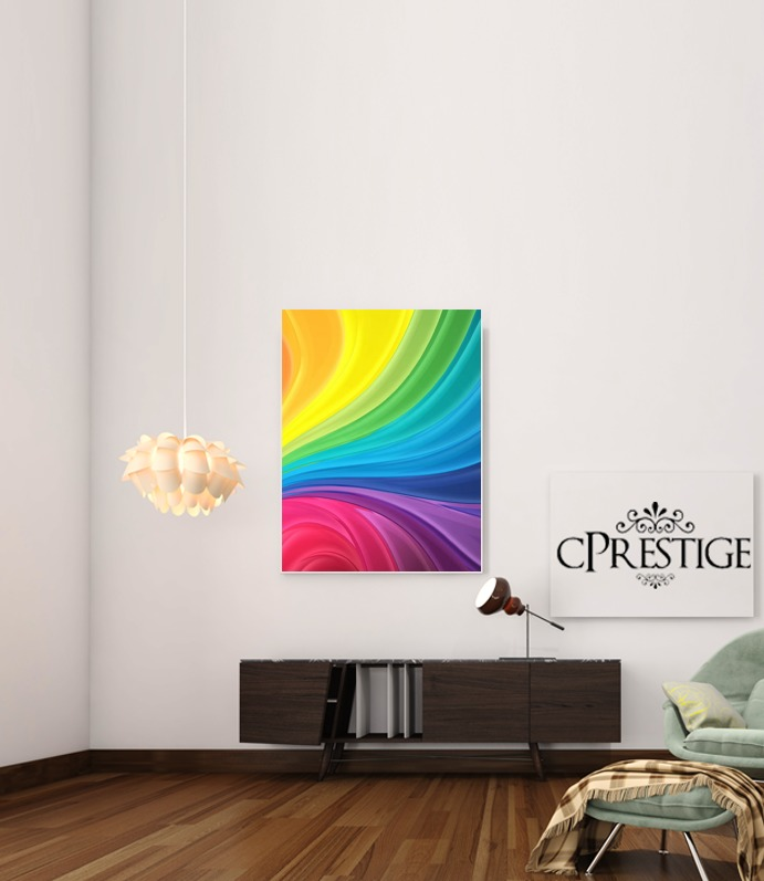 Rainbow Abstract for Art Print Adhesive 30*40 cm