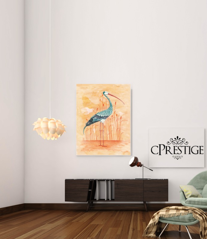An Exotic Crane for Art Print Adhesive 30*40 cm