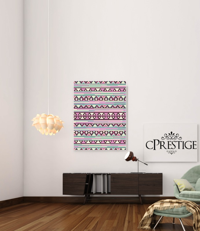 Aztec Pink And Mint for Art Print Adhesive 30*40 cm