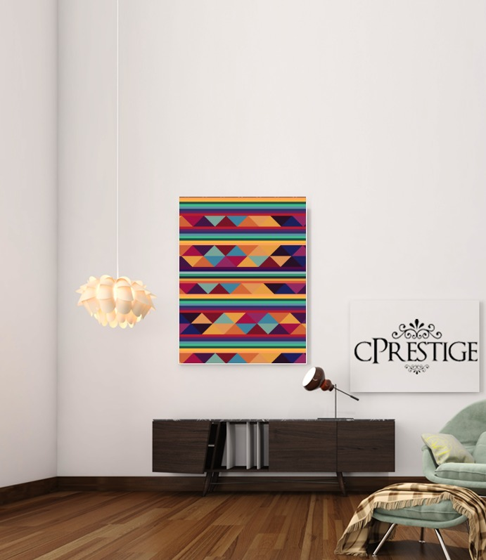 Aztec Pattern Pastel for Art Print Adhesive 30*40 cm