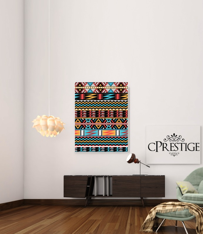 aztec pattern red Tribal for Art Print Adhesive 30*40 cm