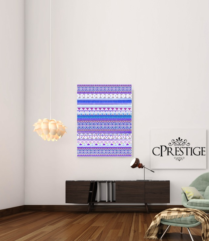 Blue Chenoa Aztec for Art Print Adhesive 30*40 cm