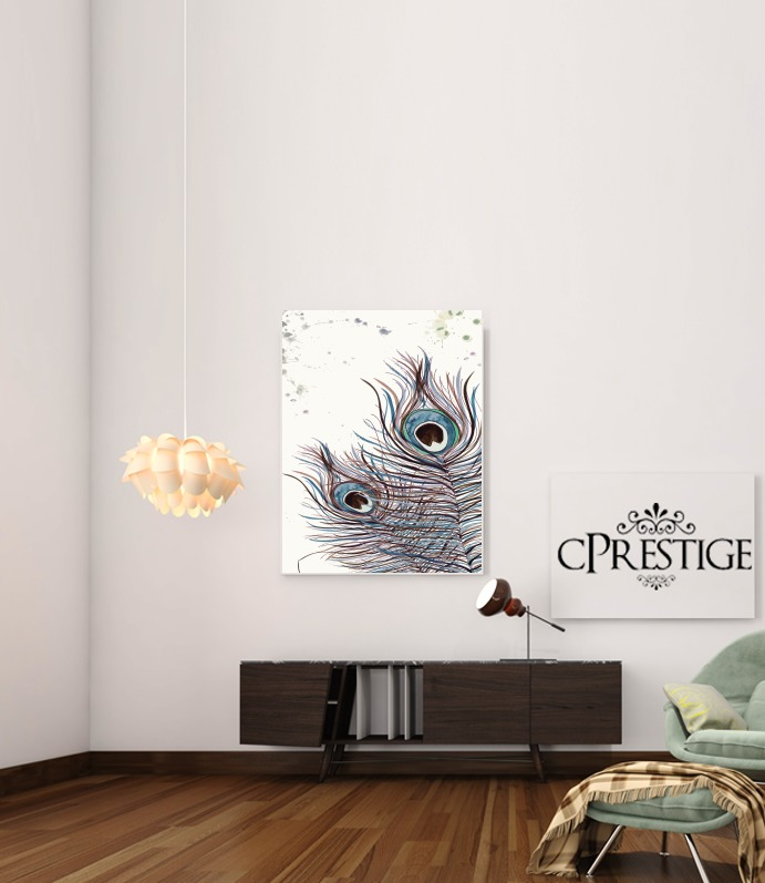 Boho Peacock Feather for Art Print Adhesive 30*40 cm